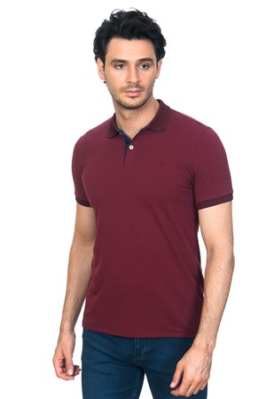White Stone Akra Klasik Fit T-Shirt  Bordo